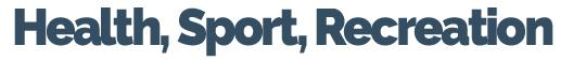 Zdravlje, Sport, Recreacija | Health, Sport, Recreation Logo